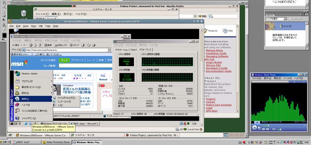 VMware,VNC,WinXP,Linux,Win2k